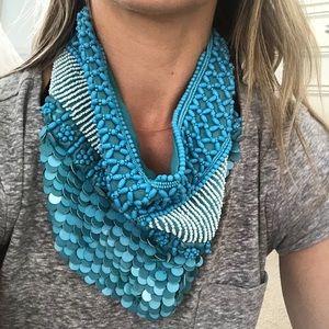 Roarke beaded scarf necklace